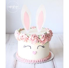 Impress all your Easter guests with this three-tiered carrot cake that's finished with pretty pastel cream cheese frosting. Bunny Birthday Cake, Easter Birthday Party, Easter Bunny Cake, Easter Cupcakes, Easter Treats, Bunny Cakes, Girl Birthday Cakes, Birthday Ideas, Bunny Party
