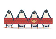 Christmas card - Penguins. , via Etsy.@Marisa Pennington Foster #choosetobemorefestive #bemorefestive