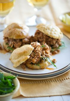 Turkey Sloppy Joes on Gluten Free Rosemary Rolls