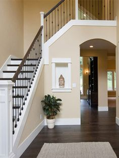 Trendy Home Decored Ideas Living Room Paint Colors Staircases Ideas Kitchen Paint Colors, Room Paint Colors, Paint Colors For Living Room, Wall Colors, House Colors, Beige Paint Colors, Neutral Colors, Light Colors, Stair Makeover