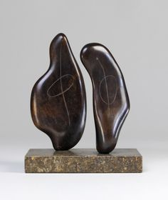 """topcat77: """"Henry Moore Two Forms, 1934 Bronze """""""