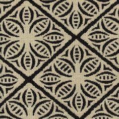 Ripped Jet Black and Cream Diamond Upholstery Fabric - Drapery Fabrics at Buy Fabrics