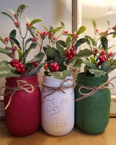 Country Christmas - Excited to share the latest addition to my shop: Christmas Mason Jar centerpiece. Christmas D - Centerpiece Christmas, Christmas Jars, Merry Christmas, Country Christmas Decorations, Christmas Crafts For Adults, Diy Christmas Crafts, Christmas Garden, Homemade Christmas Decorations, Dollar Store Christmas