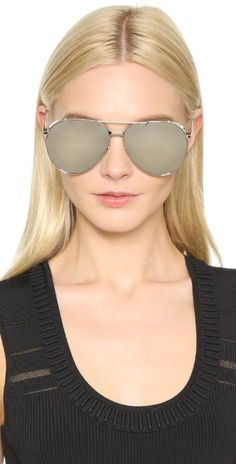 Linda Farrow Luxe Mirrored Aviator Sunglasses | SHOPBOP