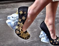 irregular choice!!!! star shoes with unicorn heels, yes please.
