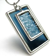 stained glass pendant by lingglass, via Flickr #StainedGlassJewelry
