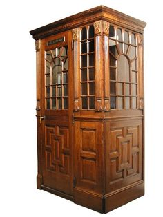 This craftsman style oak phone booth represents the best in humanity: quality craftsmanship, communication, progress and of course, the perfect place to change into tights and a cape in order to unselfishly save the world;-)