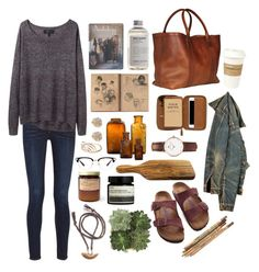 A fashion look from March 2015 featuring rag & bone sweaters, rag & bone jeans and Birkenstock sandals. Browse and shop related looks. Fall Outfits, Summer Outfits, Casual Outfits, Cute Outfits, Fashion Outfits, Womens Fashion, Looks Style, Style Me, Polyvore Outfits