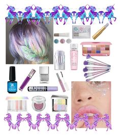 """""""Unicorn Palette!"""" by sereneowl ❤ liked on Polyvore featuring beauty, Too Faced Cosmetics, MILK MAKEUP, Lancôme, Forever 21, Sephora Collection, Urban Decay, Nails Inc., Bobbi Brown Cosmetics and contestentry"""