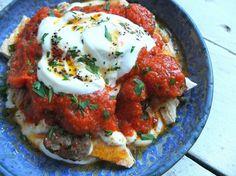 A recipe for Adana yogurtlu, a Turkish dish which layers pitta bread, yoghurt, tomato sauce, Adana kebabs and spiced butter.