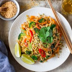 This popular Thai dish makes a delicious lunch or dinner. It's easy and quick to make, full of flavor, vegan and gluten-free too.