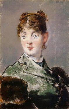 Édouard Manet (1832-1883) - Parisienne, Portrait of Madame Jules Guillemet, 1880
