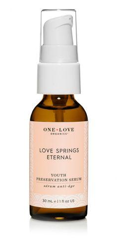 Epic Beauty Bar - One Love Organics Love Springs Eternal Youth Preservation Serum, $75.00 (http://www.epicbeautybar.com/one-love-organics-love-springs-eternal-youth-preservation-serum/)  #beauty #skincare #makeup