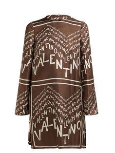 Great for Valentino Chevron logo-print silk-satin dress Womens Dresses from top store Silk Satin Dress, Satin Dresses, Graphic Patterns, Brown Fashion, Dresses For Sale, Dress Sale, Chevron, Clothes, Kleding