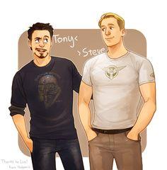Tony and Steve by Hallpen.deviantart.com on @deviantART