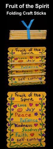 Fruit Of The Spirit Craft Ideas (more than just the one pictured)