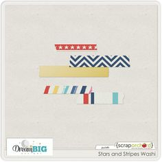 Quality DigiScrap Freebies: Stars and Stripes washi freebie from Dream Big Designs