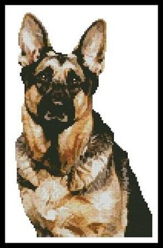 German Shepherd Cross Stitch Pattern
