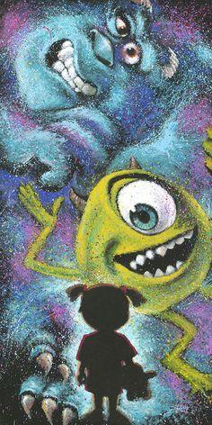 Disney Fine Art - Closet Full of Monsters. Biggs Ltd. Gallery. Monster's Inc. Heirloom quality bridal, art and home decor. 1-800-362-0677. $495.