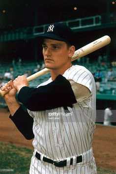 New York Yankees Roger Maris (9) before exhibition game vs Los Angeles Dodgers…