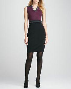 Avalon Two-Tone Knit Dress by Tory Burch at Bergdorf Goodman.