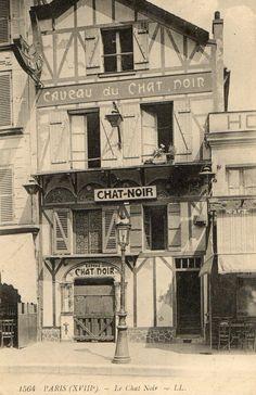 Paris 75 Montmartre Façade DU Cabaret Caveau DU Chat Noir   eBay