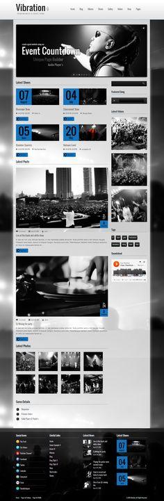 Vibration - Responsive Music & Events Theme  #wordpress #theme #website #template #responsive #design #webdesign #flat #flatdesign