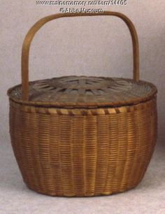 Carrying Basket, Micmac, ca. 1870. Item # 14405 on Maine Memory Network
