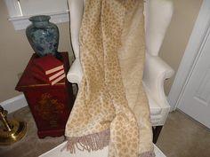 Animal Print Throw Blanket  Cheetah Paws One of a by AlexsAttic