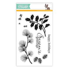 Simon Says Stamp with Clearly Besotted Clear Stamps HOLLY BERRIES sss101457