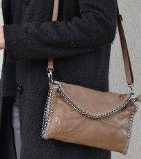 Bolso cadena piel marrón / http://onlyou.es/store/bolsos