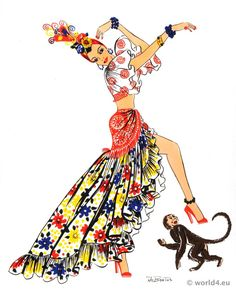 Latin American folk dress Archive - Costume and Fashion History.   The rumba, with its source in African jungle rhythms, typifies the manner in which Cuba´s culture has been influenced by the Negroes. Yet for all the publicity it has received, the rumba is not typically Cuban.