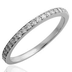 Amazon.com: 14k White Gold Wedding Diamond Band Ring (GH, I1, 0.25 carat): Diamond Delight: Jewelry