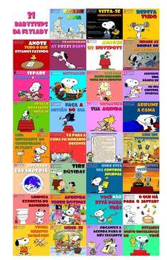 Casa Fly: Figurinhas dos 31 Babysteps com tema do Snoopy
