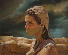 Teresa Elliott - Aqua - Fria Oil on Aluminum 24 × 30 in 61 × 76.2 cm
