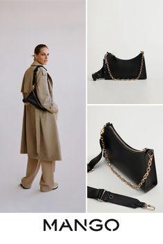 Baguette, Back To School Bags, Mango France, Shoulder Handbags, Bracelets, Casual, Outfit, Products, Fashion