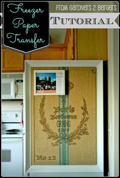 from Gardners 2 Bergers: Freezer Paper Transfer [Tutorial]