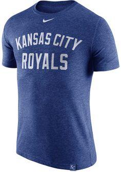Nike KC Royals Mens Grey Dri Blend DNA 1.7 Performance Tee