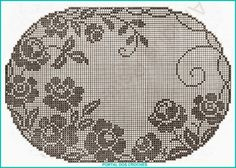 Kira scheme crochet: Album tablecloth