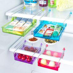1pcs Fridge Storage Rack Layer Partition Refrigerator Storage Holder  #Unbranded