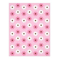 Flower Pink White Baby Scrapbook Paper Letterhead Template