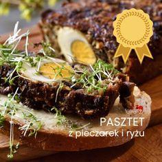 PASZTET Z PIECZAREK I RYŻU Z JAJKIEM Kombucha, Meatloaf, Steak, Pork, Vegetarian, Ethnic Recipes, Pies, Diet, Mascarpone
