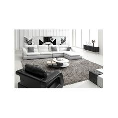 Angelo Italian Leather Sectional via Polyvore featuring home, furniture, sofas, angelo, angelo home furniture, italian leather couch, italian leather sofa and angelo furniture