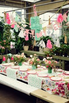 Floral, gardening birthday party