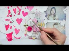 In the Mood to Scrap: L O V E with Wilna Furstenberg (Two Peas in a Bucket) Great techniques using paint
