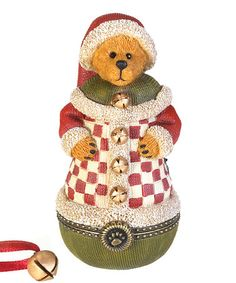 Jingle Coat Roly Santa Bear Treasure Box Figurine by Boyds