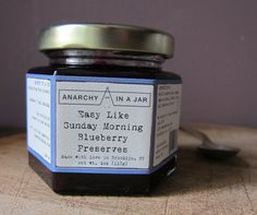 I love this jam. Perfect on toast, waffles. Small batch, locally made with the best ingredients.Easy Like Sunday Morning Blueberry Preserves @ boroughmakers.com