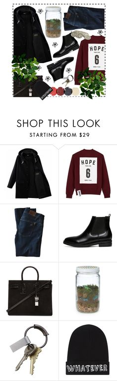 """""""432514"""" by sarahsb-i ❤ liked on Polyvore featuring Studio Concrete, DL1961 Premium Denim, Yves Saint Laurent, CB2, Local Heroes, women's clothing, women's fashion, women, female and woman"""