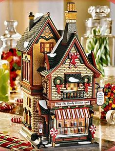 Candy Counter Christmas In The City Christmas Tree Village, Christmas In The City, Christmas Villages, All Things Christmas, Christmas Ornaments, Hawthorne Village, Alpine Village, Dickens Village, Thomas Kinkade