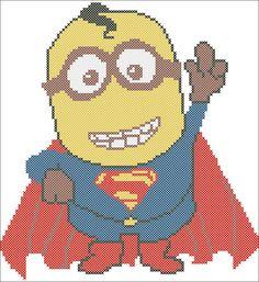 BOGO FREE Minion Superman Marvel and DC cross stitch pattern